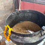 Boiling Wheat Ceremony for Cow Feeding